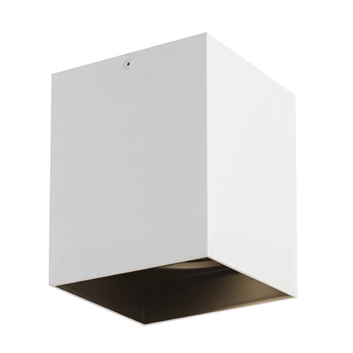 Tech Lighting White / Black LED Flushmount Ceiling Light by Tech Lighting 700FMEXO660WB-LED927