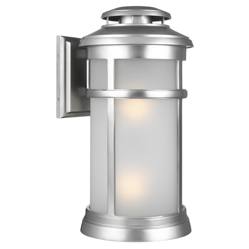 Feiss Lighting Feiss Lighting Newport Painted Brushed Steel Outdoor Wall Light OL14303PBS