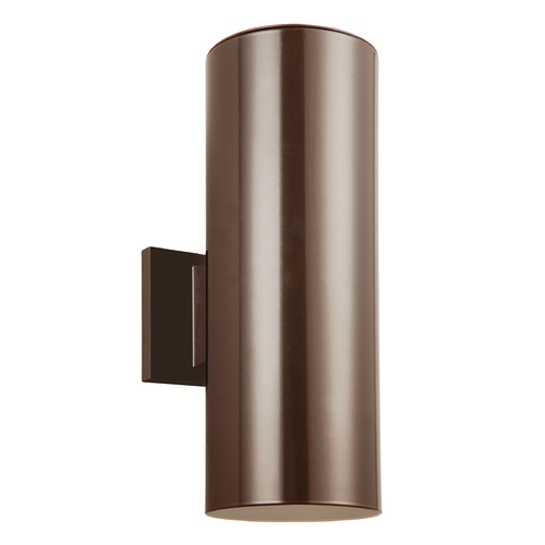 Sea Gull Lighting Sea Gull Lighting Outdoor Cylinders Bronze LED Outdoor Wall Light 8313802EN3-10