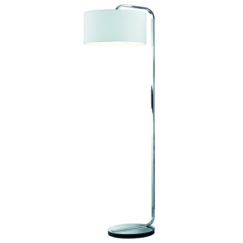 Arnsberg Arnsberg Cannes Nickel Matte Floor Lamp with Drum Shade 400100107