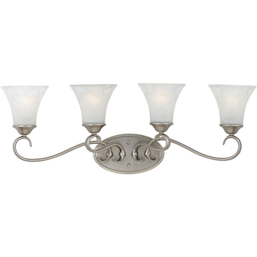Quoizel Lighting Bathroom Light with Grey Glass in Antique Nickel Finish DH8604AN