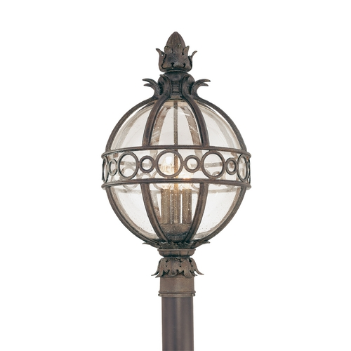 Troy Lighting Post Light with Clear Glass in Campanile Bronze Finish P5006CB