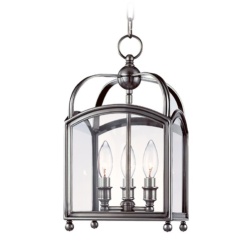 Hudson Valley Lighting Mini-Pendant Light with Clear Glass in Polished Nickel Finish 8409-PN