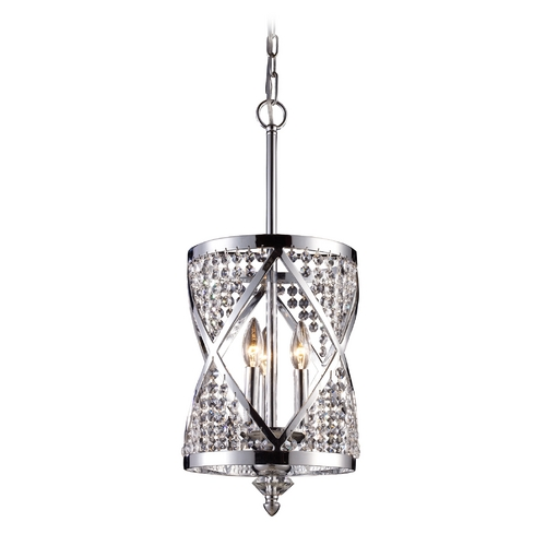 Elk Lighting Modern Pendant Light in Polished Chrome Finish 11233/3