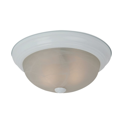 Sea Gull Lighting Flushmount Light with Alabaster Glass in White Finish 75943-15