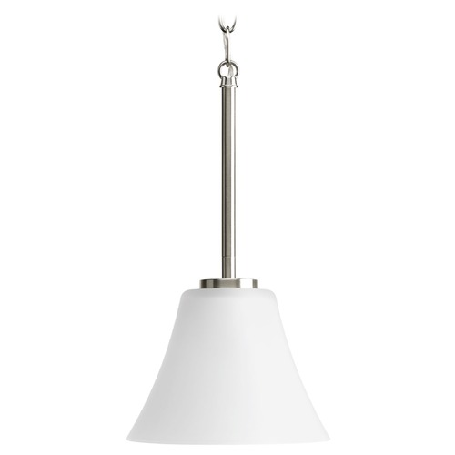 Progress Lighting Progress Mini-Pendant Light with White Glass P5300-09