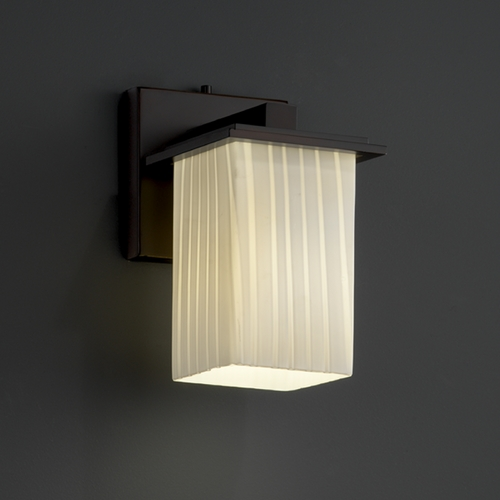 Justice Design Group Justice Design Group Fusion Collection Sconce FSN-8671-15-RBON-DBRZ