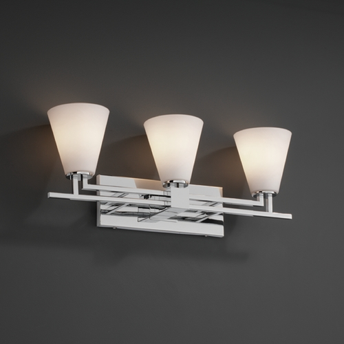 Justice Design Group Justice Design Group Fusion Collection Bathroom Light FSN-8703-50-OPAL-CROM