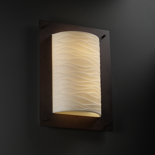 Justice Design Group Justice Design Group Porcelina Collection Sconce PNA-5563-WAVE-DBRZ