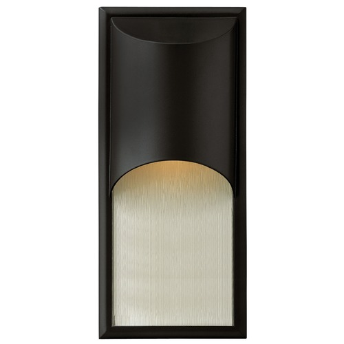 Hinkley Lighting Modern LED Outdoor Wall Light in Satin Black Finish 1834SK-LED