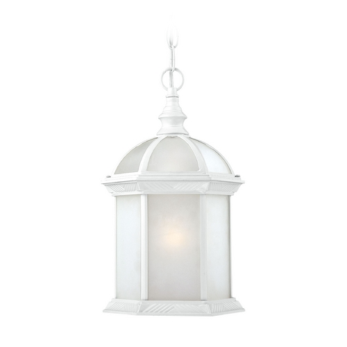 Nuvo Lighting Outdoor Hanging Light with White Glass in White Finish 60/4997