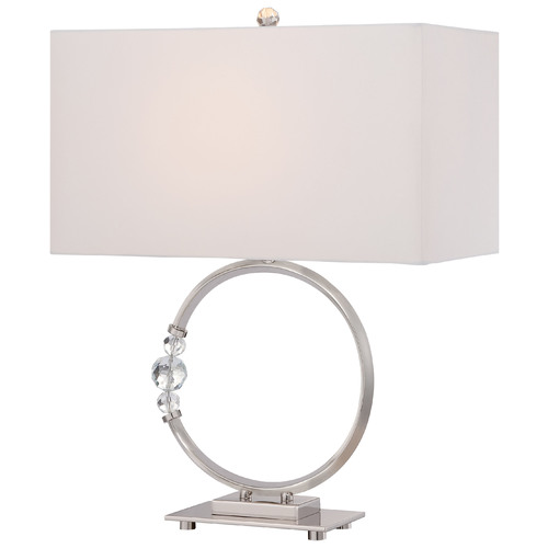 George Kovacs Lighting George Kovacs Portables Polished Nickel Table Lamp with Rectangle Shade P1603-613
