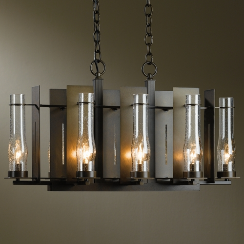 Hubbardton Forge Lighting Hubbardton Forge Lighting New Town Bronze Chandelier 103280-05-I184