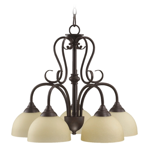 Quorum Lighting Quorum Lighting Powell Toasted Sienna Chandelier 6408-5-44