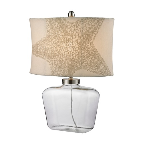 Dimond Lighting Dimond Lighting Clear Table Lamp with Oval Shade D2617