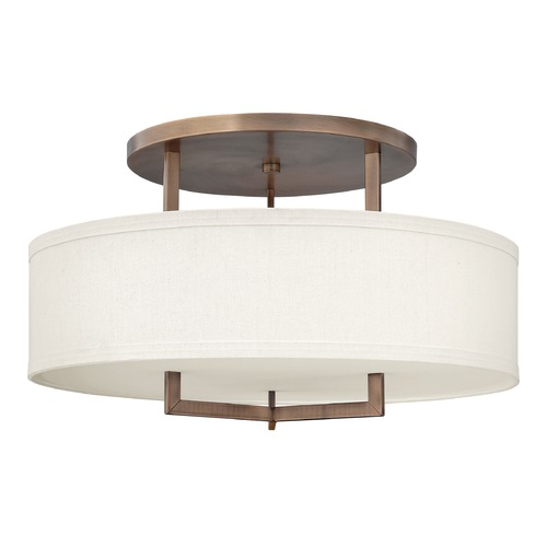 Hinkley Lighting Hinkley Lighting Hampton Brushed Bronze Semi-Flushmount Light 3211BR-GU24