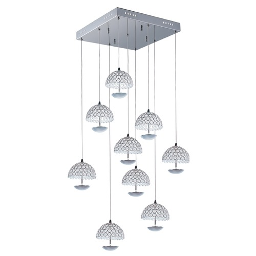 ET2 Lighting Parasol 9-Light LED Pendant E24499-20PC