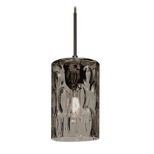 Besa Lighting Besa Lighting Cruise Bronze Mini-Pendant Light with Cylindrical Shade 1JT-CRUSSM-BR