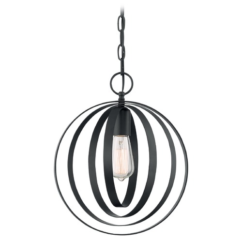 Satco Lighting Satco Lighting Pendleton Matte Black Pendant Light 60/7066