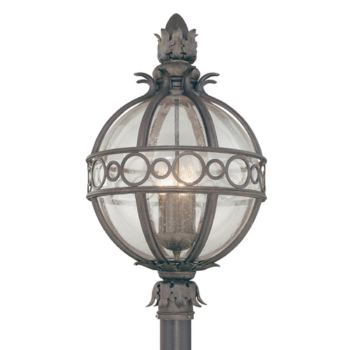 Troy Lighting Post Light with Clear Glass in Campanile Bronze Finish P5007CB