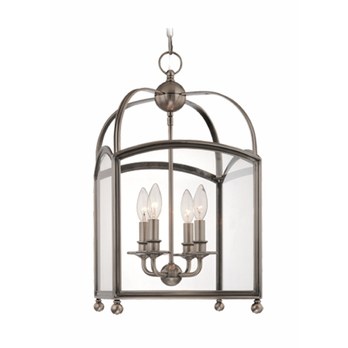 Hudson Valley Lighting Pendant Light with Clear Glass in Aged Brass Finish 8412-AGB