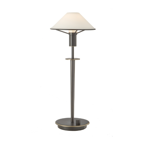 Holtkoetter Lighting Halogen Table Lamp with White Glass Shade 6514/1 HB/OB-TRUEWH