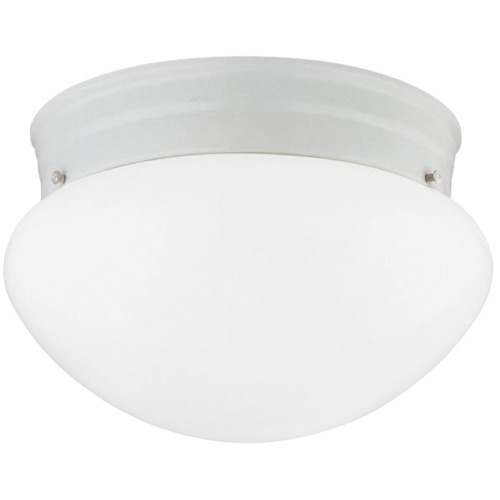 Design Classics Lighting 6-Inch White Flushmount Ceiling Light 2961ES-WH/OP