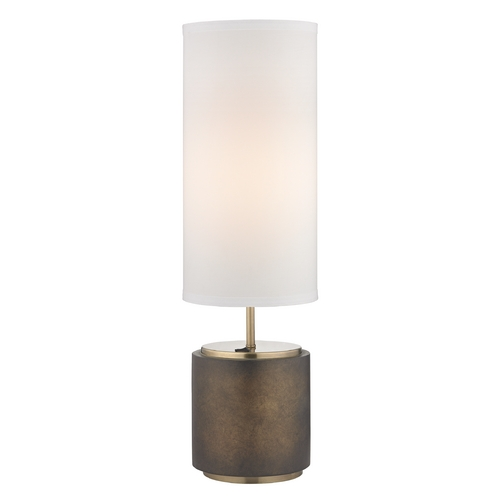 Design Classics Lighting Modern Bronze Table Lamp with White Drum Shade DCL 6924-658/604 SH7656