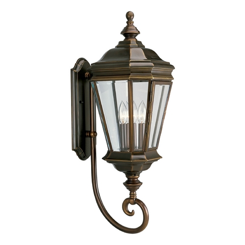 Progress Lighting Progress Oil Rubbed Bronze Outdoor Wall Light with White Glass P5672-108