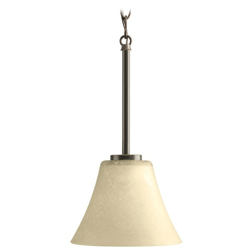 Progress Lighting Progress Mini-Pendant Light with Brown Glass P5300-20
