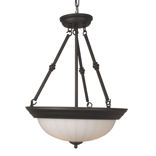 Craftmade Lighting Craftmade Oiled Bronze Pendant Light with Fluted Shade X125-OB