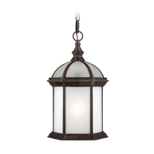 Nuvo Lighting Outdoor Hanging Light with White Glass in Rustic Bronze Finish 60/4998