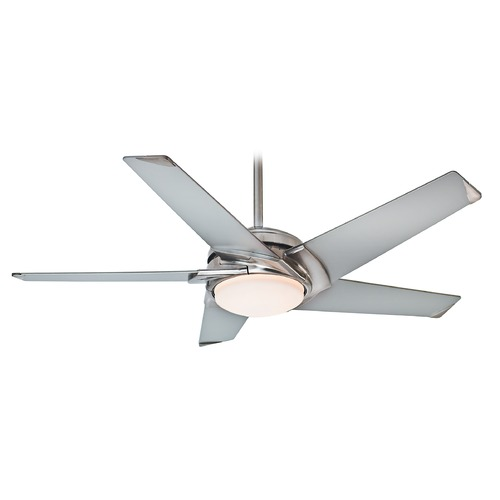 Casablanca Fan Co Casablanca Fan Stealth Brushed Nickel LED Ceiling Fan with Light 59094