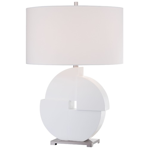 George Kovacs Lighting George Kovacs Portables White Table Lamp with Cylindrical Shade P1604-044