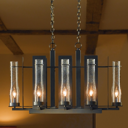 Hubbardton Forge Lighting Hubbardton Forge Lighting New Town Bronze Chandelier 103285-05-I213