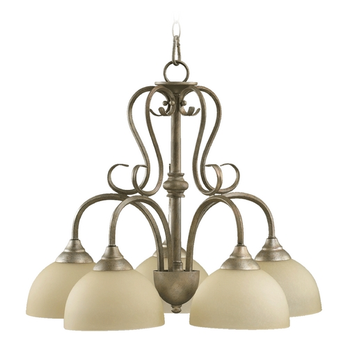 Quorum Lighting Quorum Lighting Powell Mystic Silver Chandelier 6408-5-58