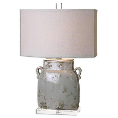 Uttermost Lighting Uttermost Melizzano Ivory-Gray Table Lamp 26613-1