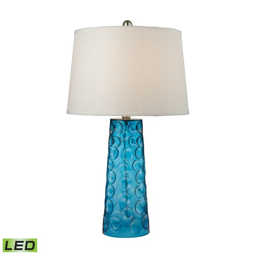 Elk Lighting Dimond Lighting Blue LED Table Lamp with Empire Shade D2619-LED