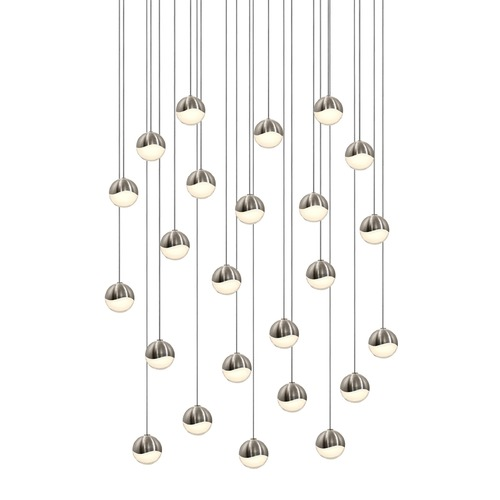 Sonneman Lighting Sonneman Grapes Satin Nickel 24 Light LED Multi-Light Pendant 2918.13-SML