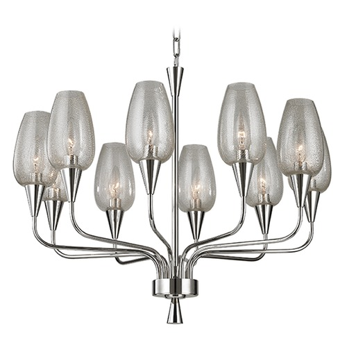 Hudson Valley Lighting Longmont 10 Light Chandelier - Polished Nickel 4725-PN