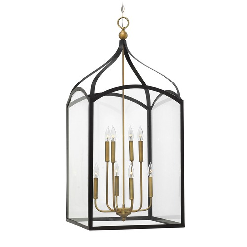 Hinkley Lighting Hinkley Lighting Clarendon Bronze Pendant Light with Rectangle Shade 3418BZ