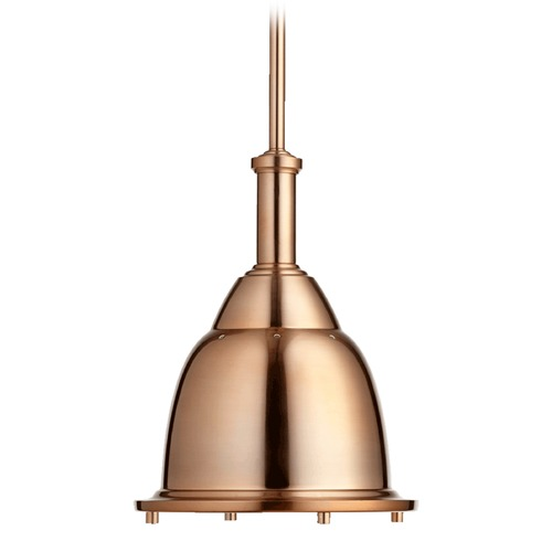 Quorum Lighting Quorum Lighting Satin Copper Pendant Light with Bowl / Dome Shade 805-10-49