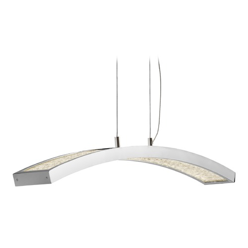 Elan Lighting Elan Lighting Crushed Ice Chrome LED Pendant Light 83498