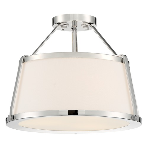 Satco Lighting Satco Lighting Cutty Polished Nickel Semi-Flushmount Light 60/6996