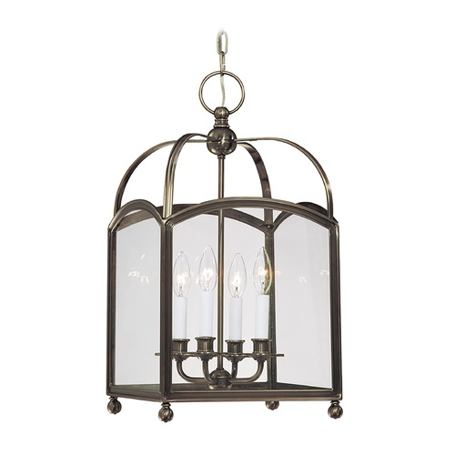 Hudson Valley Lighting Pendant Light with Clear Glass in Distressed Bronze Finish 8412-DB