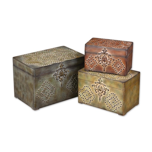 Uttermost Lighting Box in Red / Green / Brown Finish 20394