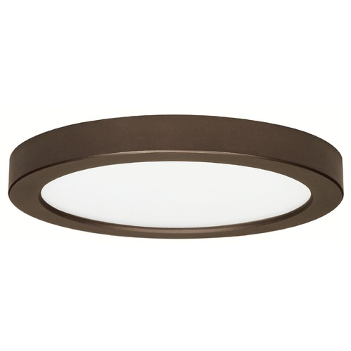 Design Classics Lighting 9-Inch Round Bronze Low Profile LED Flushmount Ceiling Light - 2700K 8338-27-BZ