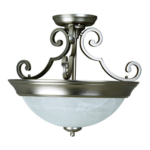 Jeremiah Lighting Jeremiah Brushed Satin Nickel Semi-Flushmount Light X224-BN