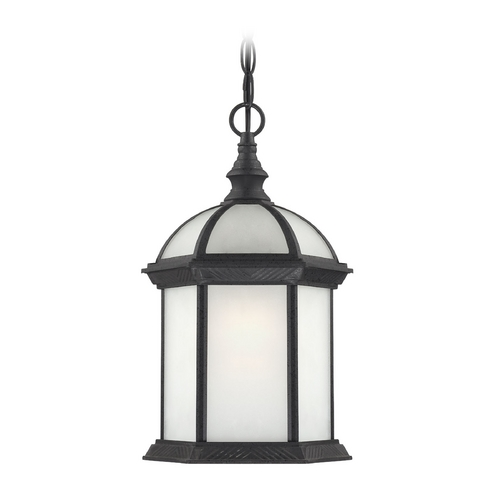 Nuvo Lighting Outdoor Hanging Light with White Glass in Textured Black Finish 60/4999