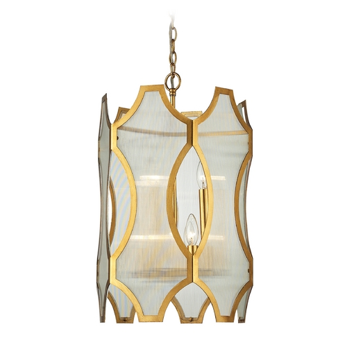 Elk Lighting Pendant Light in Antique Gold Leaf Finish 31467/3+3